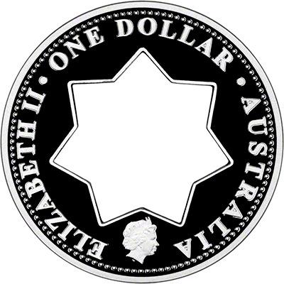 Obverse of 2001 Australian Silver Proof One Dollar