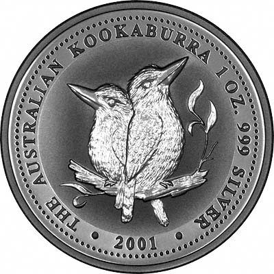 2001 Australian One Kilo Silver Kookaburra Coins