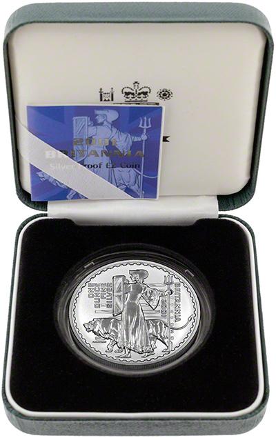 2001 Silver Proof Britannia in Presentation Box