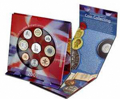 2001 UK Uncirculated Coin Set in Folder