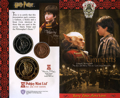 Obverse of Harry Potter Wizard Pack