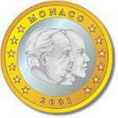Obverse of Monaco 1 Euro Coin