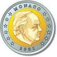 Obverse of Monaco 2 Euro Coin