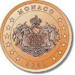 Obverse of Monaco 5 Euro Cent Coin