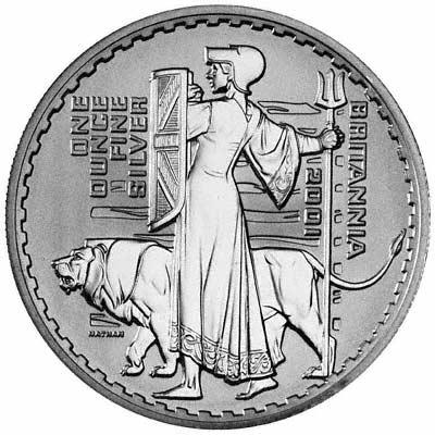 Reverse of 1999 Proof Silver Britannia
