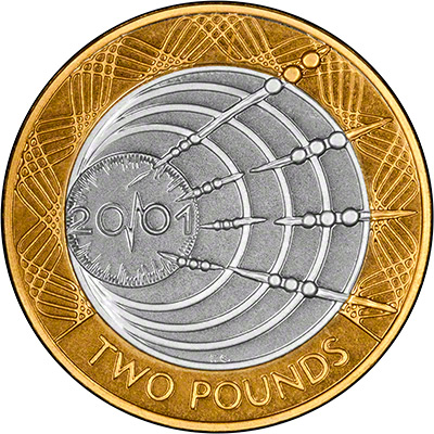 Marconi 2001 British Two Pound Coins