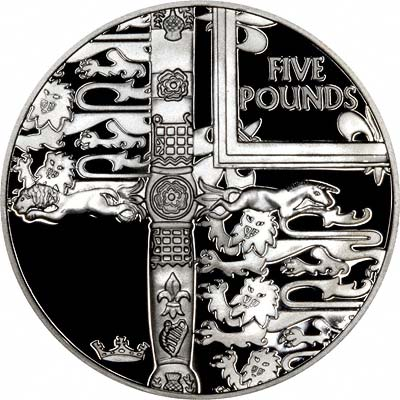 The Reverse of the 2000 Five Pound Silver Proof Crown Celebrates the Queen Mother's Centenary