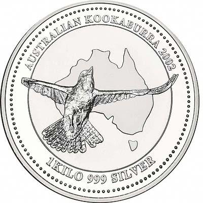 Australian Silver Kookaburra Coins 2002
