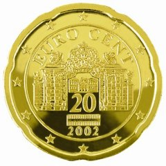 Obverse of Austrian 20 Euro Cent Coin