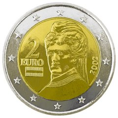 Obverse of Austrian 2 Euro Coin