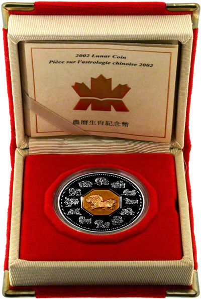 2002 Canada Lunar Calendar $15 in Presentation Box