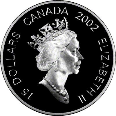 Obverse of 2002 Canada Lunar Calendar $15