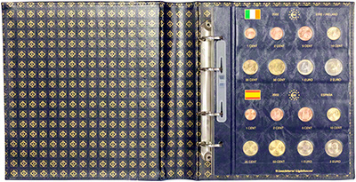 2002 European Union Collection Folder - Open with Completed Page