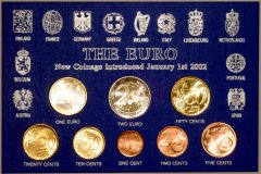 Euro Coin Set in Generic Presentation Pack