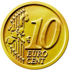 Common Reverse of all 10 Euro Cent Coins