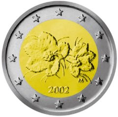 Obverse of Finnish 2 Euro Coin