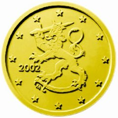 Obverse of Finnish 50 Euro Cent Coin