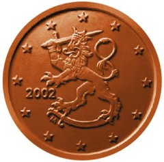 Obverse of Finnish 5 Euro Cent Coin