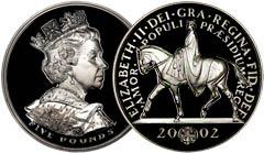 Golden Jubilee Portrait of Elizabeth II on a Crown