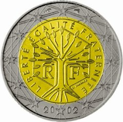 Obverse of French 2 Euro Coin