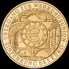 Reverse of German 2002 Gold 200 Euro Coin