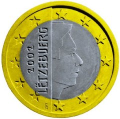 Obverse of Luxembourg 1 Euro Coin