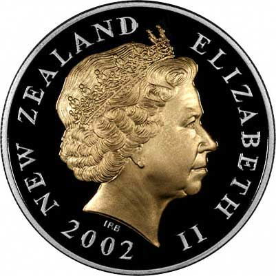 Obverse of 2002 New Zealand $5