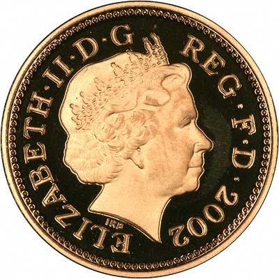 Reverse of Gold Twopence of 2002