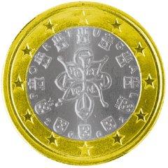Obverse of Portuguese 1 Euro Coin