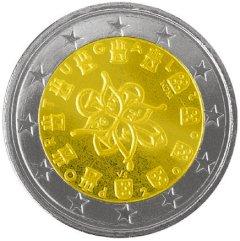 Obverse of Portuguese 2 Euro Coin
