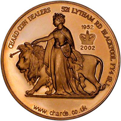 Reverse of 2002 Golden Jubilee Medallion