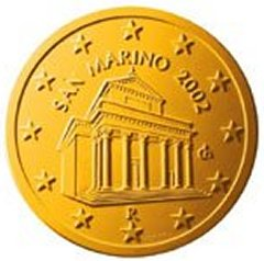 Obverse of San Marino 10 Euro Cent Coin