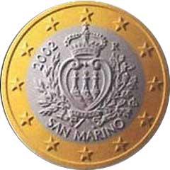 Obverse of San Marino 1 Euro Coin