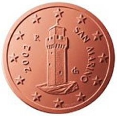 Obverse of San Marino 1 Euro Cent Coin