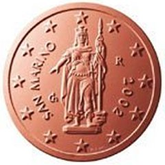 Obverse of San Marino 2 Euro Cent Coin
