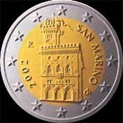 Obverse of San Marino 2 Euro Coin