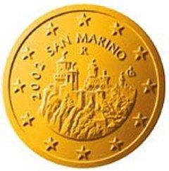 Obverse of San Marino 50 Euro Cent Coin