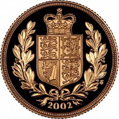 Shield Reverse for 2002 Golden Jubilee