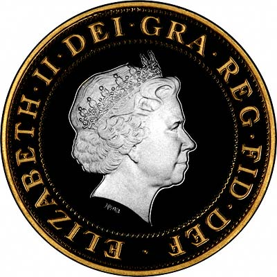 Obverse of 2002 Commonwealth £2 Coin