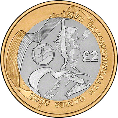 Reverse of 2002 Northern Ireland Base Metal Proof Two Pound