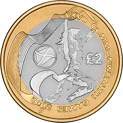 Reverse of 2002 Scotland Base Metal Proof Two Pound