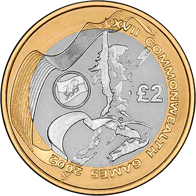 Reverse of 2002 Wales Base Metal Proof Two Pound