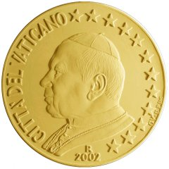 Obverse of Vatican 50 Euro Cent Coin