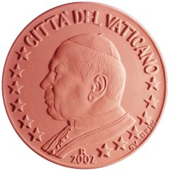 Obverse of Vatican 5 Euro Cent Coin