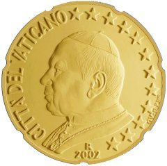 Obverse of Vatican 20 Euro Cent Coin