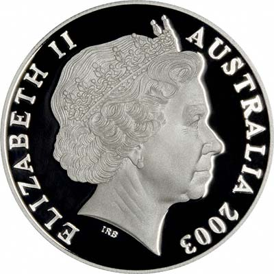 Obverse of 2003 Australian Silver Kangaroo