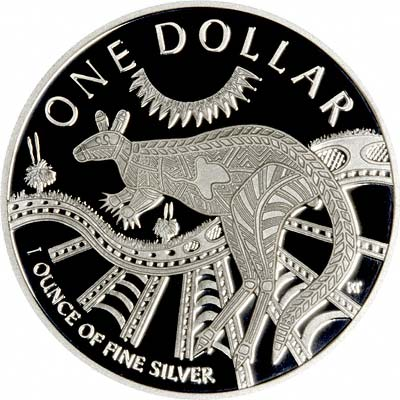 Reverse of 2003 Australian Silver Kangaroo