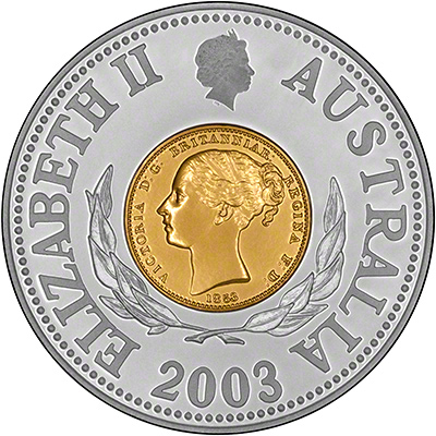 Obverse of 2003 150th Anniversary of the Sydney Mint Pattern Coin