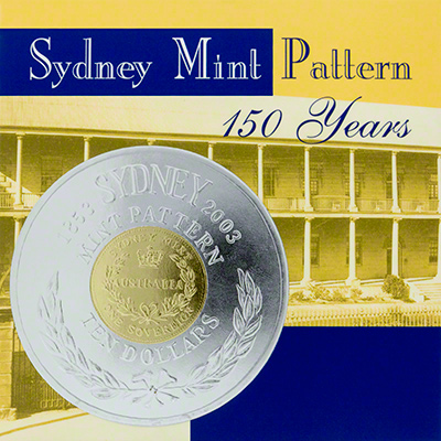 2003 150th Anniversary of the Sydney Mint Pattern Coin Box Cover