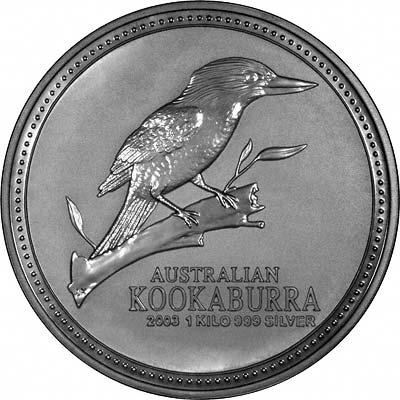 2003 Australian One Kilo Silver Kookaburra Coins